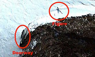 Antarctica Giant 20 Meter Person On Google Earth Map Discovered?
