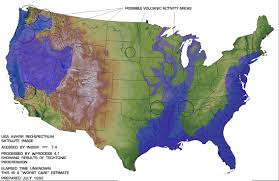 Edgar Cayce Massive Pole Shift Predicted And Map After The Earth - Map of us after pole shift