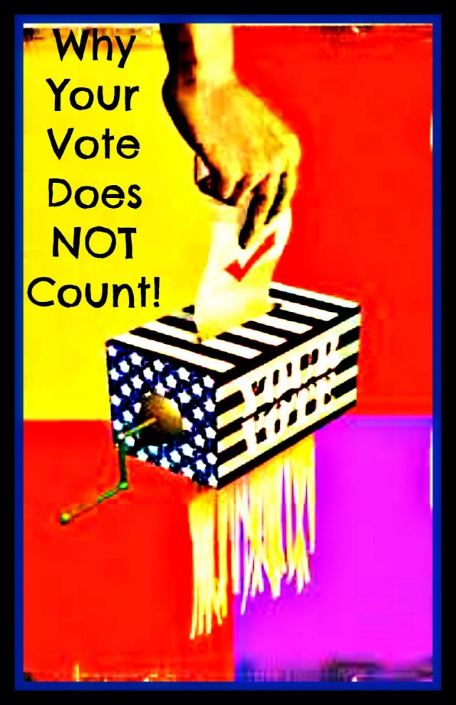 does the american vote really count Your vote doesn't count  in all of american history, a single vote has never determined the outcome of a presidential election  do you really think that the votes of 40 hnr commenters are.