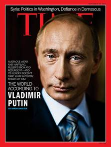 Vladimir Putin on Cover of Time Magazine All Around the World - EXCEPT in the United States...