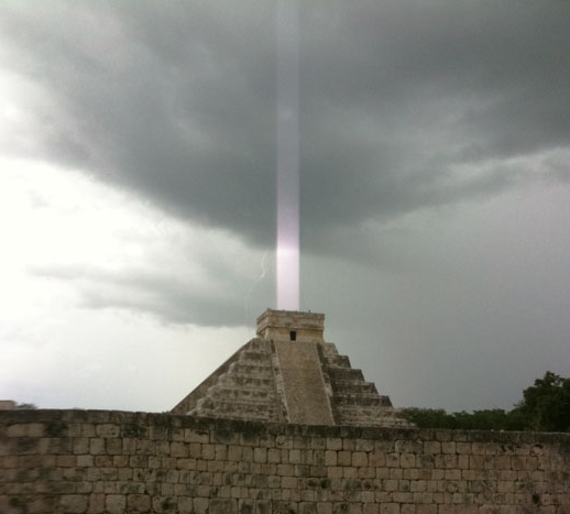 Pyramids Of The World Have Started To Come Alive Galactic Photon Belt Enters Our Solar System Mayan-light-beam