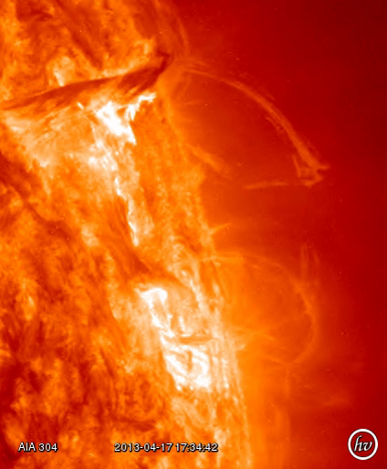 Sun Update: Solar Flare - Eruption on Sunspot 1719 - SDO ...