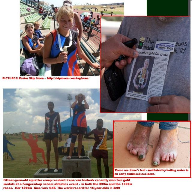 Irene van Niekerk, 15, the SA goldmedalist-athlete from Pretoria squatter camp