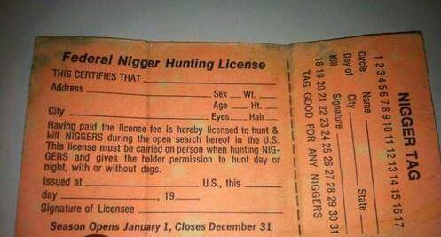 A legit nigger hunting license jamiiforums the home of for Mo fishing license