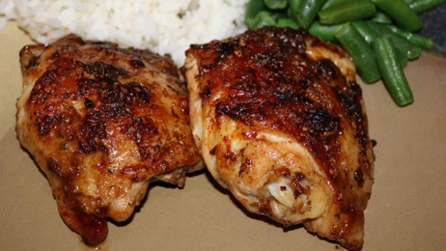 Here is the best recipe in the entire world for Baked Chicken Thighs.
