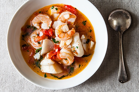 Wonderfully delicious seafood stew perfect for fall for French fish stew