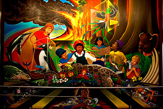 Comet ison on denver airport murals illuminati freemason for El mural pelicula