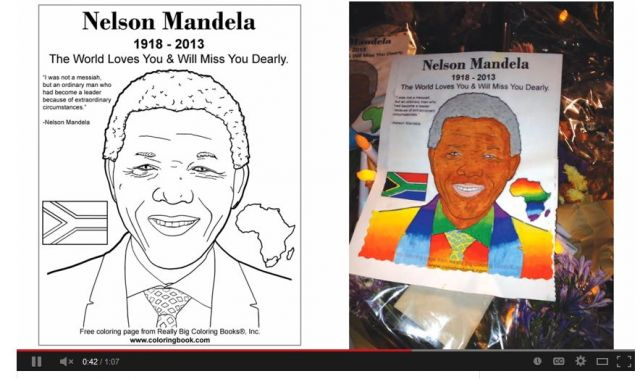 nelson mandeal coloring page from really big coloring books