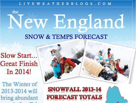 2013 2014 Almanac Winter Forecast, Snowfall Forecast for 2013 2014