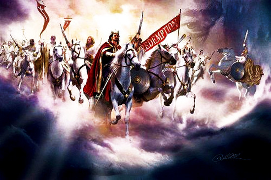 Image result for christ returning to the earth with his saints graphics