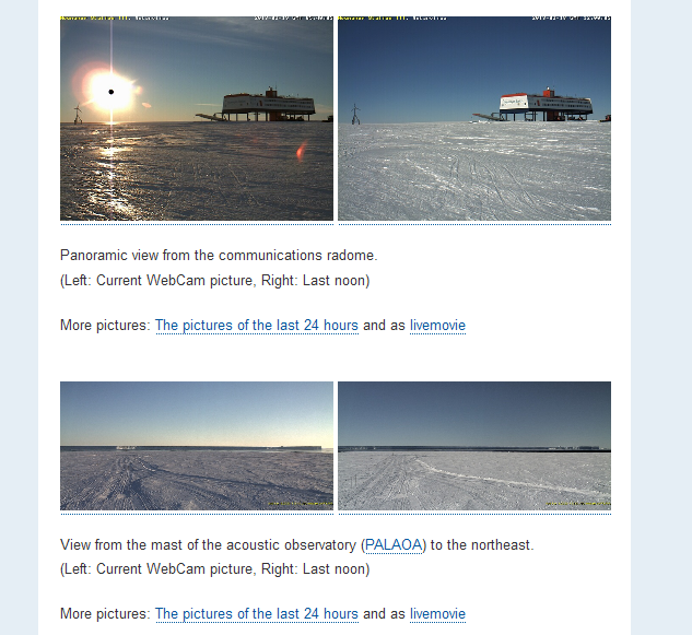 Planet X captured from Webcams at Neumayer Station III ?