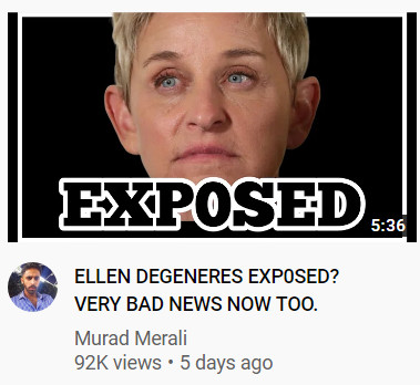 Ellen Degeneres Exposed? Very Bad News Now