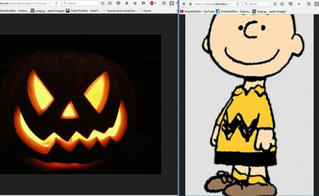 thats because charlie brown was born on october 30 one day before halloween