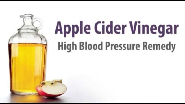 how to use apple cider vinegar to lower blood pressure