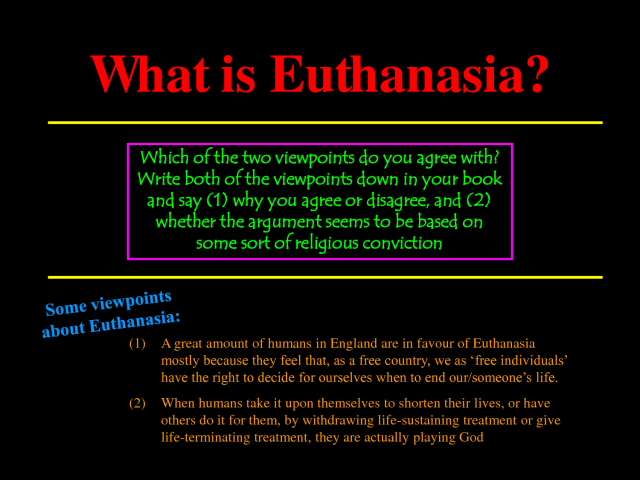 Abortion is a Form of Euthanasia, and Should Be Treated as Such