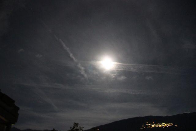 Night chemtrail spraying