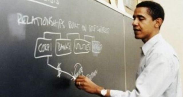 "obamateaching1 Barrack Obama's Impressive List of  ""Accomplishments"