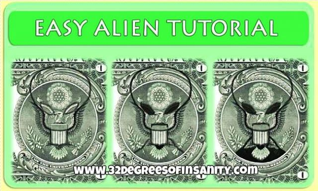 Gray alien hidden on the U.S. dollar bill? See for ...Dollar Bill Secrets Alien