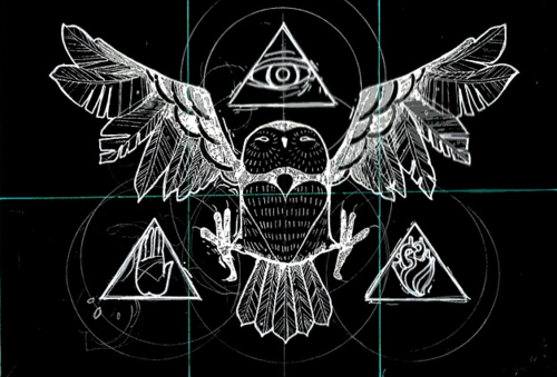 illuminati owl drawing - photo #16