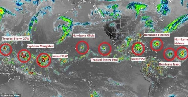 7 Named Storms Are Swirling Across The Globe – Has 'The Day After Tomorrow' Arrived?