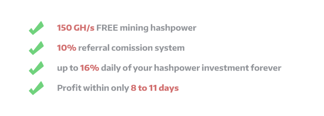 Get 150 gh/s mining power for free!