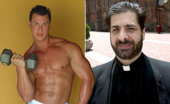 Gay priest having sex