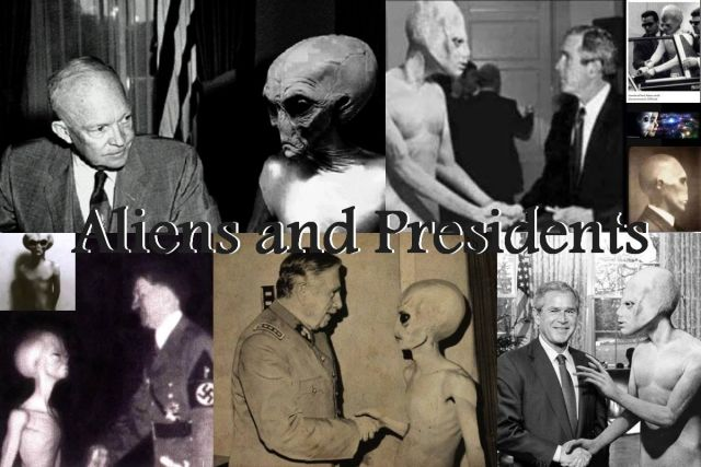 president meet with aliens cast