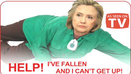 Image result for hillary falls down