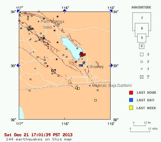 Quakes Nearly Every Minute At Same Location At The Salton Sea