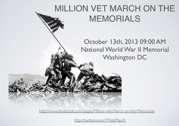 One Million Vets To March On DC 10-13-2013