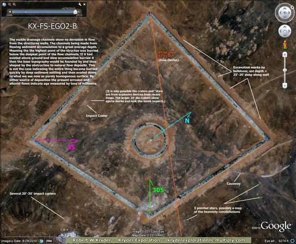 """Egypt – Secrets Found – Ancient """"Space-Ports"""": """"When Men Of Earth Traveled The Stars"""" Egypt-geoglyphs-temple-area-02-B"""