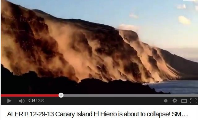 El Hierro Red Alert! Landslides All Over The World