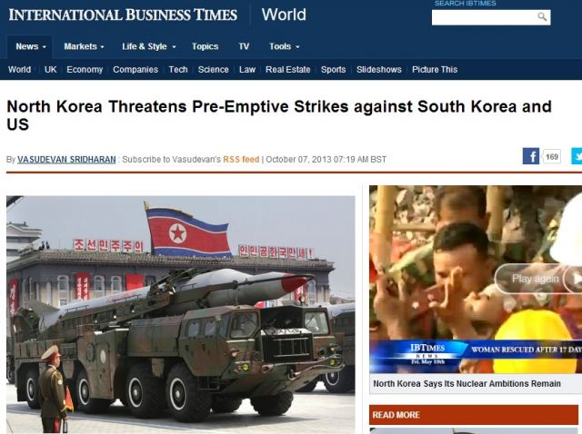 N. Korea Threatens Strikes On US & South Korea, Again