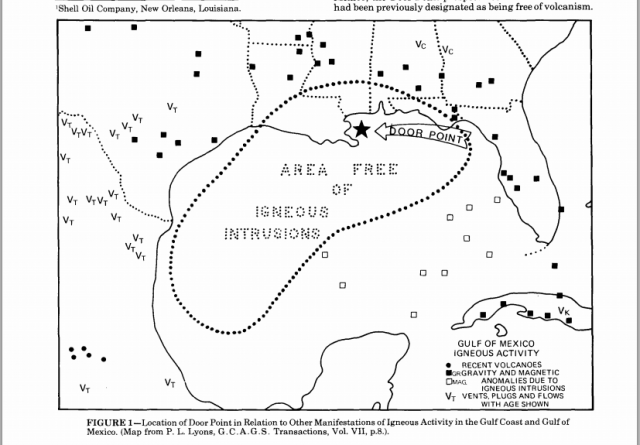 a volcano buried in se louisiana   u201cdoor point  a buried