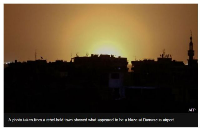 Israel Bombs Road To Damascus..Airport