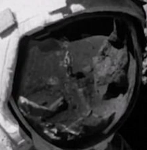 New Moon Hoax Image Shows Stage Hand In Astronaut Visor Reflection