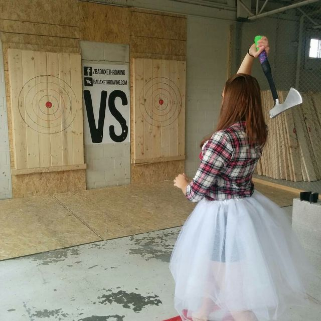 bachelorette axe throwing party