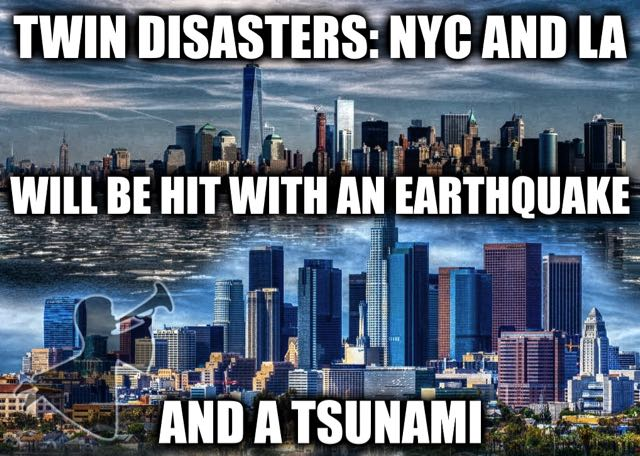 Warning About A Potential Twofold Destruction Consisting Of An Earthquake And A Tidal Wave Coming To Both The East and West Coast of the USA on 7/11 which is the next 9/11.  Also Update On The Timing Of The Harpazo.