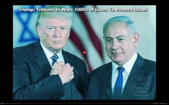 Trump: 6.4 Trillion In Mid-East Wars Tens Of Thousands Of American Lives To Protect Israel.  Trump: Jewish Founded U.N. Must Hold Jewish Communism Responsible For Jewish Created Coronavirus.  Excellent Videos.