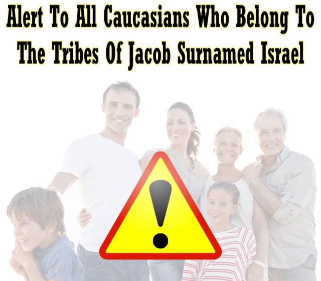 Warning To All Caucasians In America And The White Christian Nations!  Extremely Important Message!!!