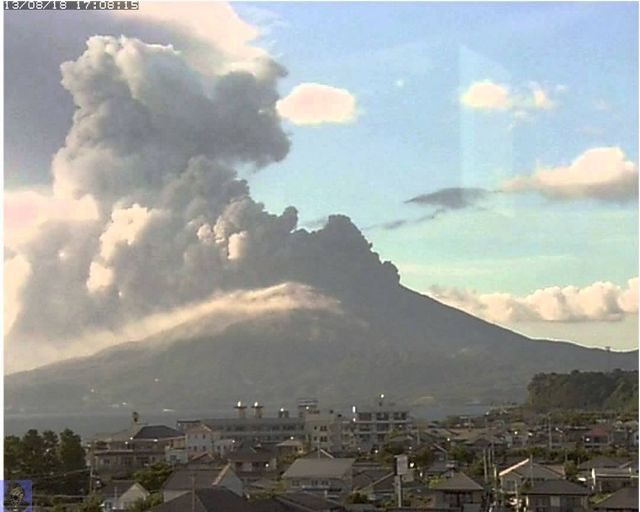 Massive Volcano Erupts In Japan- Sakurajima Volcano ...