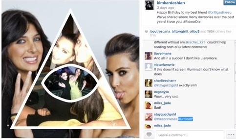 Illuminati kardashian christmas card goes mainstream viral video